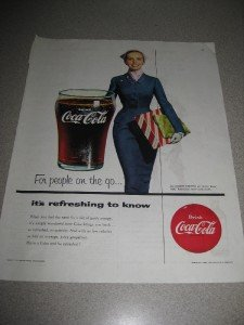 Vintage 1954 Ad Coca Cola Coke for People on the Go