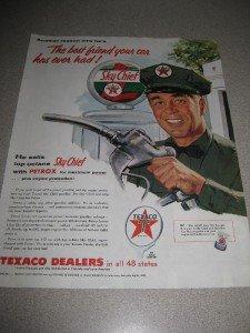 Vintage 1955 Ad Texaco Sky Chief Gasoline