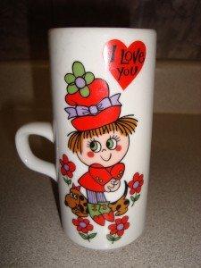 Vintage Royal Crown Arnart Smug Mug Japan Kitty 3386