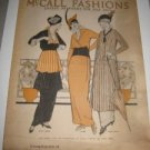 McCalls Fashions Sewing Patterns July 1914 Ladies Kids