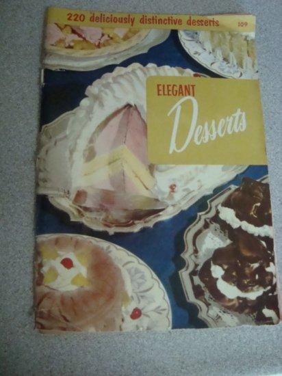 """1955 Culinary Arts Institute """"Elegant Desserts"""" #109"""