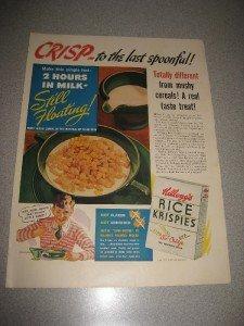 1939 Ad Kellog's Rice Crispies Snap Crackle Pop Cool Ad