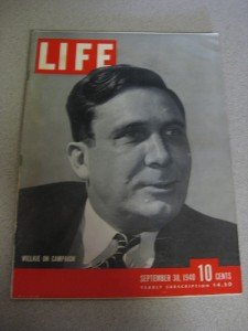 Life Magazine Sept 30 1940 Wilkie Bombing of London