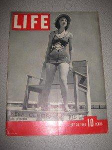 Life Magazine July 29 1940 Girl Lifeguard Private Plane