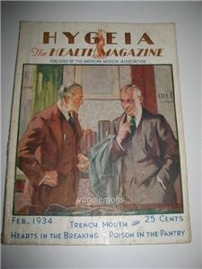 February 1934 issue of Hygeia Magazine Am Medical Assoc