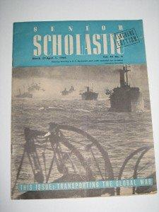1944 Ed of Senior Scholastic - Teachers Edition WWII