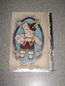 Vintage White & Wyckoff Congrats New Baby Card 1940's