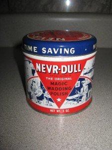 Vintage Nevr Dull Wadding Compound Polish and Tin 1941