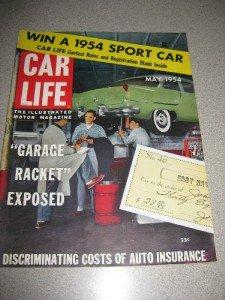 May 1954 Car Life Magazine Ford Thunderbird Review