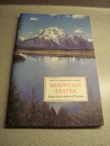 American Geographical Society Mountain States 1958