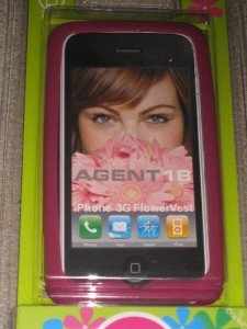 New Agent 18 iPhone 3G Case Flower Pink Silicone Cute!!