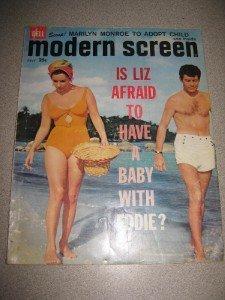 7/1960 Modern Screen Magazine Liz Taylor Marilyn Monroe
