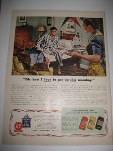 1942 Eight o Clock Coffee Ad Soldier Home on Leave WWII