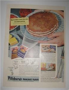 1942 Life Magazine Ad Pillsbury Pancake Flour