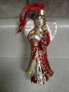 NIB Waterford Red Angel Christmas Ornament NIB