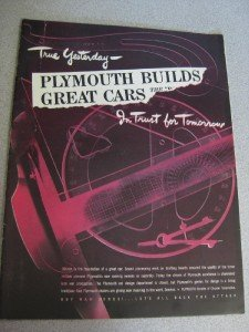 1944 Life Magazine Ad Plymouth Builds Great Cars