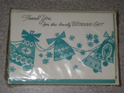 Vintage Set 12 Wedding Gift Thank You Notes Unused NIP