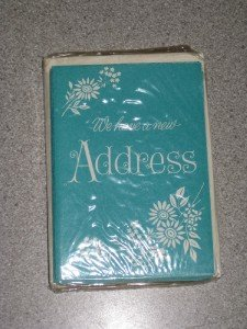 Vintage set 12 Change of Address Notes Cards Unused NIP