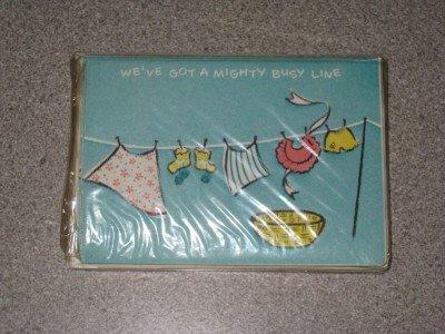 Vintage set 12 Birth Announcement Cards Unused NIP