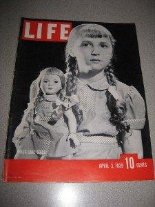 Life Magazine 4/3/1939 Dolls Hitler Lindbergh Shoes