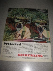 1943 Ad Seiberling Rubber Gas Masks WWII