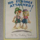 Vintage Unused Birthday Card No Strings Attached An Artistic Card