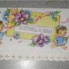 Vintage Unused Greeting Card Get Well a Gram Adorable!!
