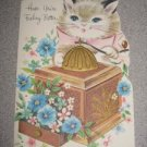 Vintage Unused Get Well Card Kitty Cat Sunshine Unused