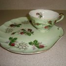 Vintage Lefton Snack Set Green Chic & Shabby