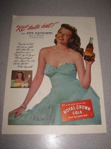 1940's Ad Rita Hayworth for Royal Crown RC Cola