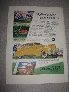 Vintage 1939 Ad for Nash The Car Everybody Likes