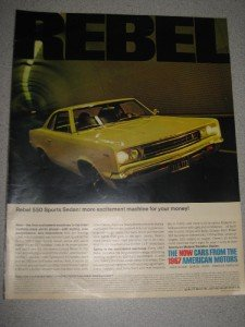 Vintage 1967 AMC American Motors Rebel 550 Ad