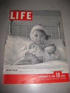 Life Magazine September 23 1940 Air Raid Victim England