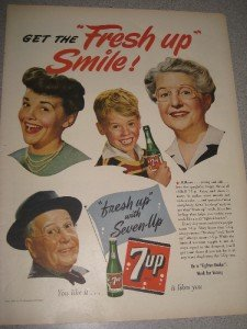 """1944 Life Mag Ad 7-Up """"Fresh Up with Seven-Up"""""""