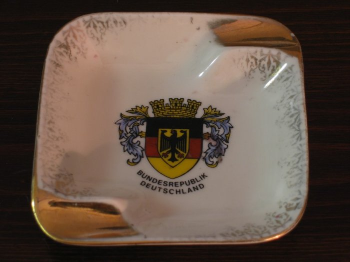 Vintage Federal Republic Germany Ashtray Bavaria China