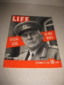 Life Magazine 9/ 25/1939 Warsaw Bombed Hitler Close Up