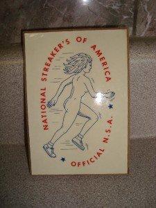 ~Vintage Retro 1970s Nat'l Streakers of America Plaque~