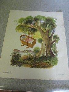 1957 Mother Goose Print Rock a Bye Baby Weisgard
