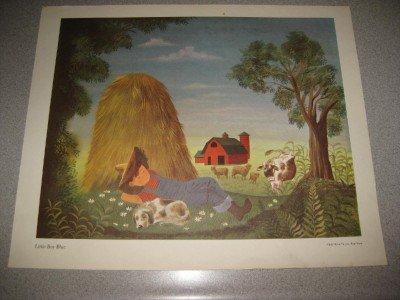 1957 Mother Goose Print Little Boy Blue Weisgard