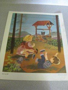 1957 Mother Goose Print Jack & Jill Leonard Weisgard