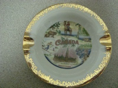 Vintage Canada Ashtray with Mountie  Made in Japan