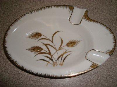 Vintage Lefton Wheat Pattern Ashtray
