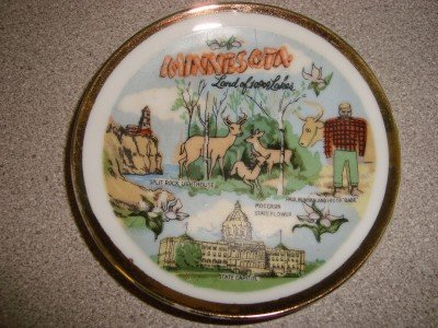 "Vintage 4"" Minnesota Collector Plate G Nov Co. Japan"