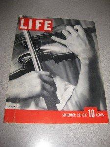 Life Magazine September 20, 1937 Yehudi Menuhin Violin