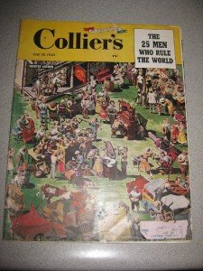 May 1949 Colliers 25 Men Who Rule the World Great Ads!!