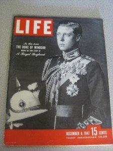 12/8/47 Life Magazine Duke of Windsor Paris Auto Show