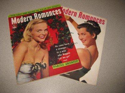 Lot of Two Modern Romance Women's Magazines 1948 1949