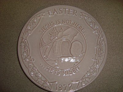 1972 Frankoma Easter Collector Plate Oral Roberts Okla