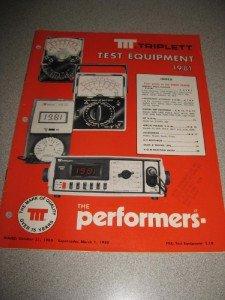 1981 Triplett Test Equipment Manual V-O-M's Digital