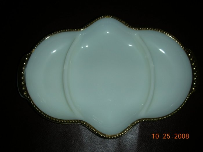 Anchor Hocking Fire King Gold Hobnail Serving Dish
